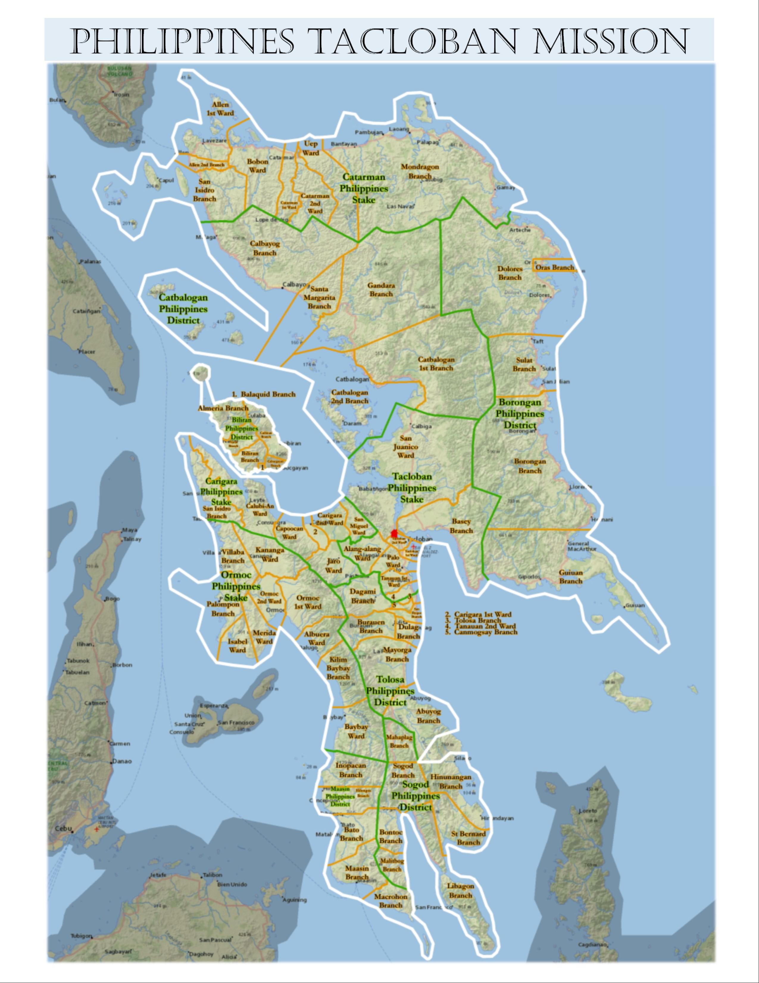 Tacloban Philippines Map.Week 8 Tacloban Cabucgayan Elder Daxton Poulsen